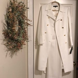 Anne Klein Winter White Suit / Gold Buttons